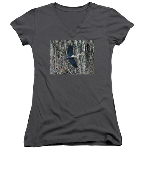 Women's V-Neck T-Shirt (Junior Cut) featuring the photograph Hallelujah by Neal Eslinger