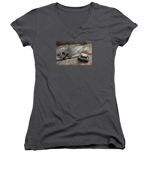 Hand Made Women's V-Neck T-Shirt (Junior Cut) by Photographic Arts And Design Studio