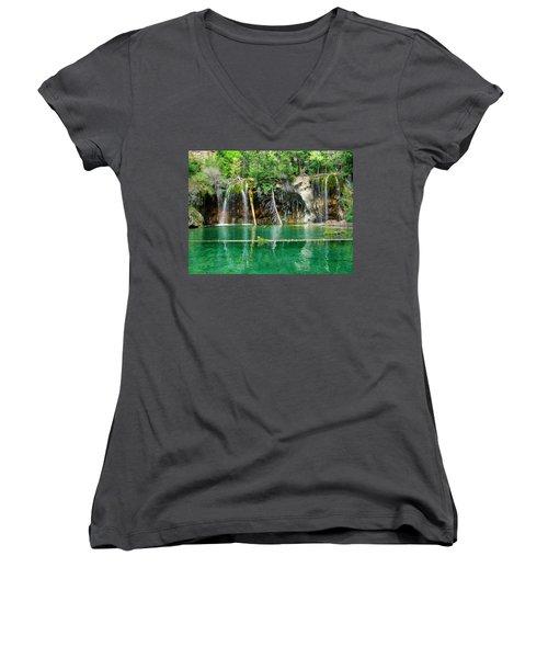 Hanging Lake 1 Women's V-Neck T-Shirt