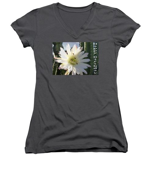Women's V-Neck T-Shirt (Junior Cut) featuring the photograph Happy Birthday Card And Print 9 by Mariusz Kula