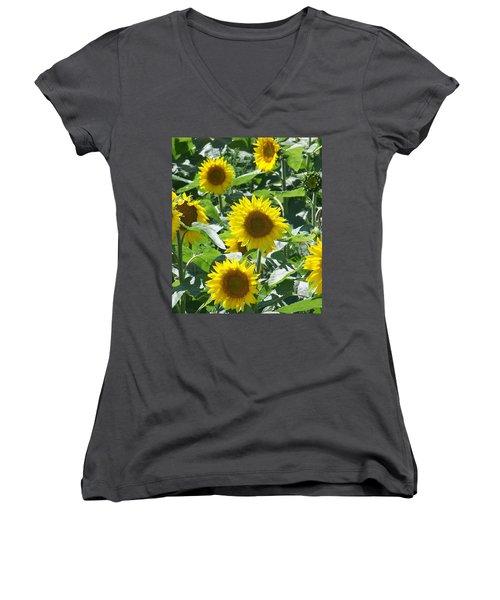 Happy Faces Women's V-Neck T-Shirt