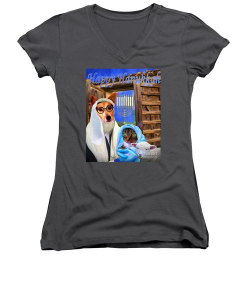Happy Hanukkah  - 2 Women's V-Neck