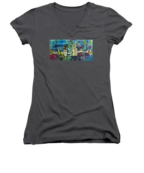 Happy Time Women's V-Neck (Athletic Fit)