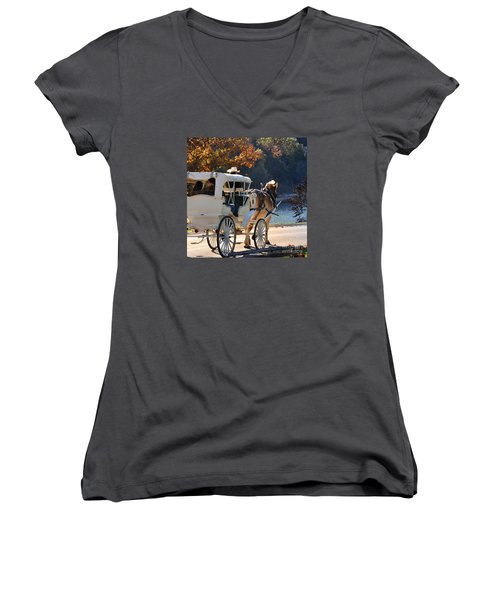 Happy Trails  Women's V-Neck T-Shirt