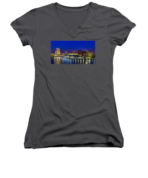 Harbor Island Nightlights Women's V-Neck T-Shirt