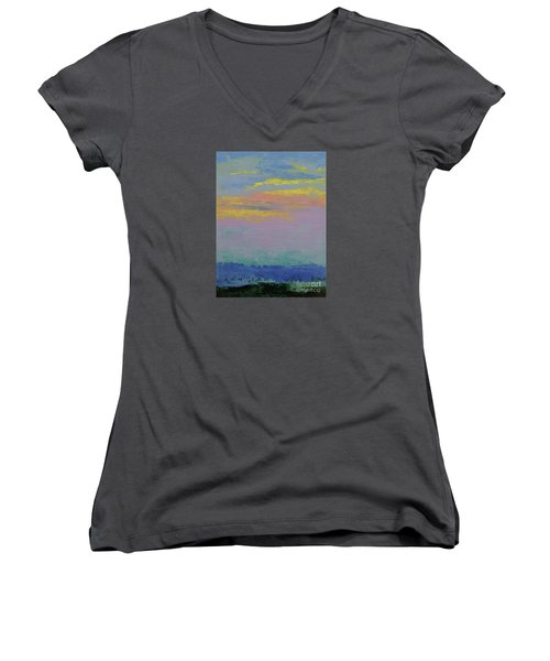 Harbor Sunset Women's V-Neck (Athletic Fit)