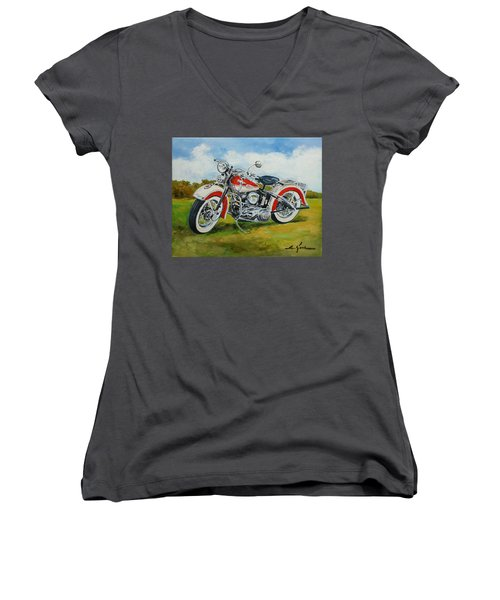 Harley Davidson 1943 Women's V-Neck (Athletic Fit)