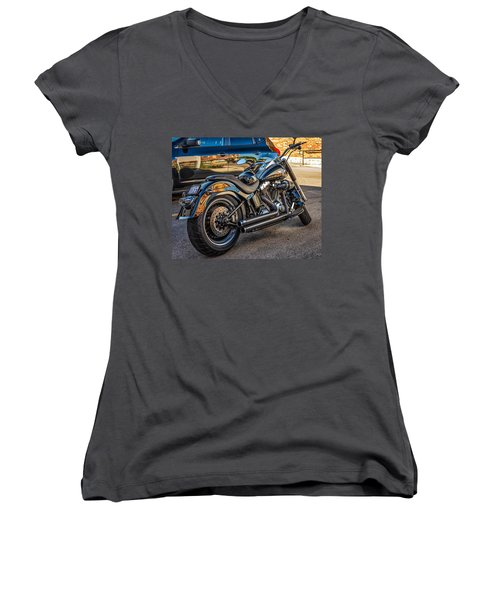 Harley Davidson Women's V-Neck T-Shirt (Junior Cut) by Steve Harrington