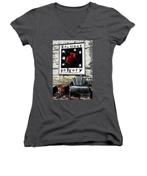 Harmony Pottery Women's V-Neck T-Shirt