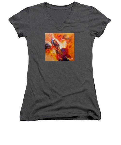 Sold Out Women's V-Neck T-Shirt (Junior Cut) by Sanjay Punekar