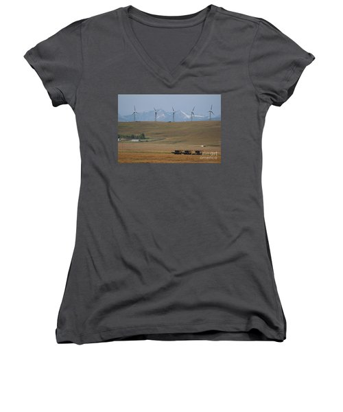 Harvesting Wind And Grain Women's V-Neck (Athletic Fit)