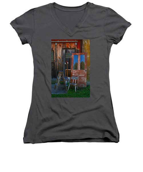 Have A Seat Women's V-Neck (Athletic Fit)