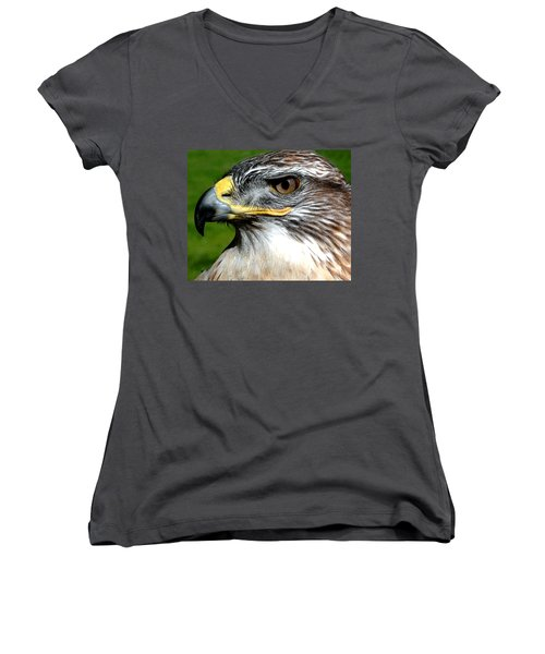Head Portrait Of A Eagle Women's V-Neck
