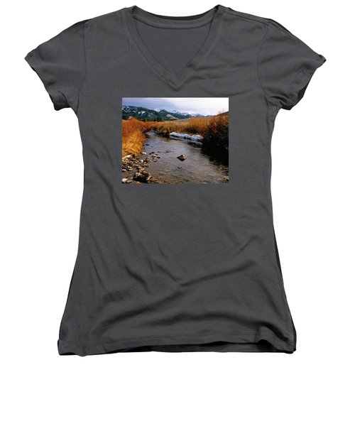 Headwaters Of The River Of No Return Women's V-Neck