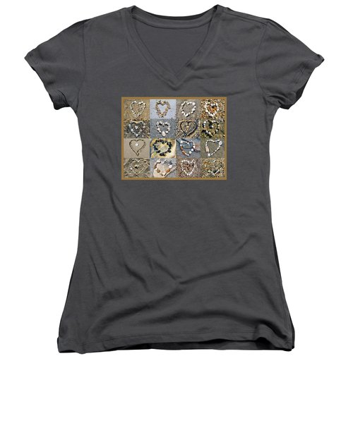 Heart Of Hearts Women's V-Neck (Athletic Fit)