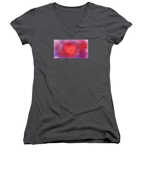 Heart Of Love Women's V-Neck (Athletic Fit)