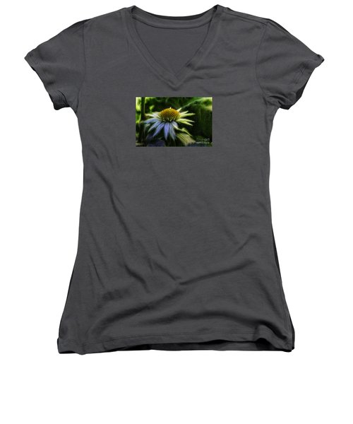 Heart Treasure Women's V-Neck T-Shirt (Junior Cut) by Jean OKeeffe Macro Abundance Art