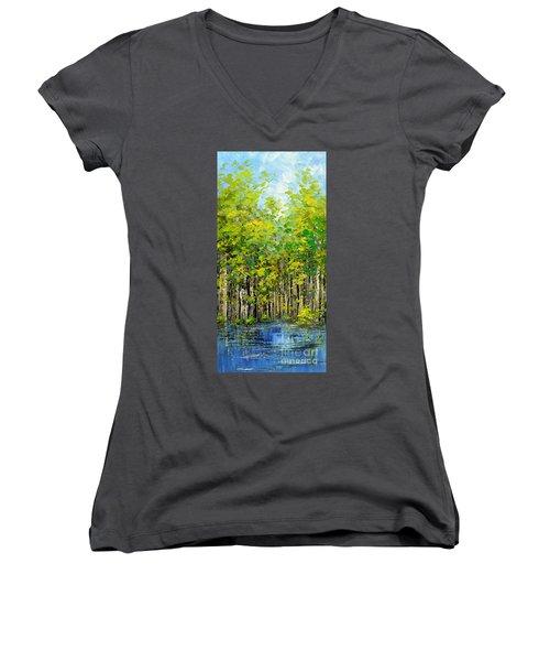 Heat Of Summer Women's V-Neck T-Shirt