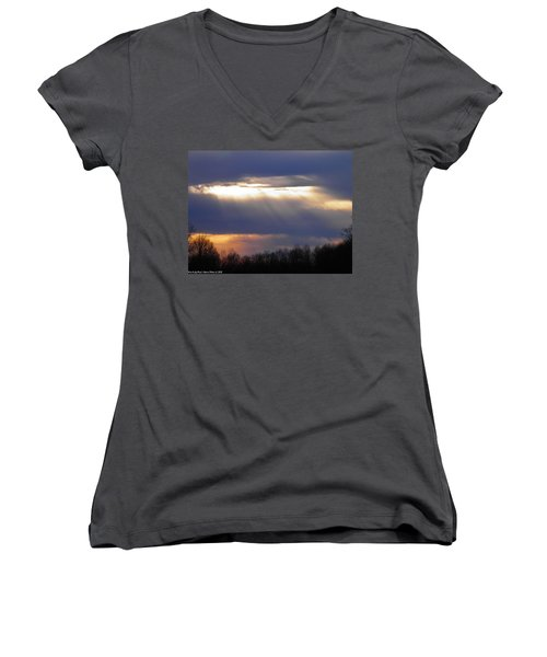 Heavenly Sunset Women's V-Neck (Athletic Fit)