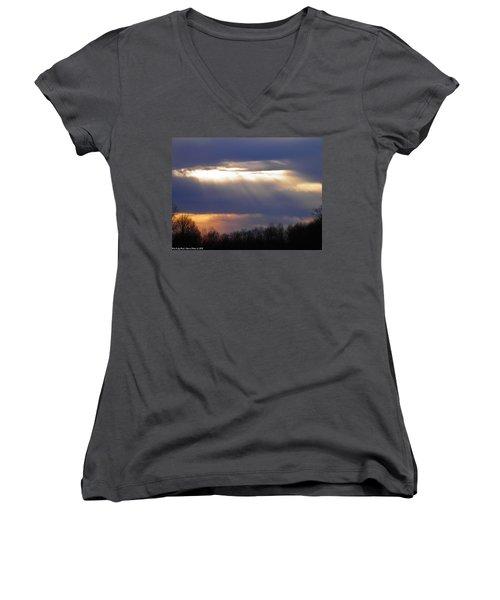 Heavenly Sunset Women's V-Neck T-Shirt