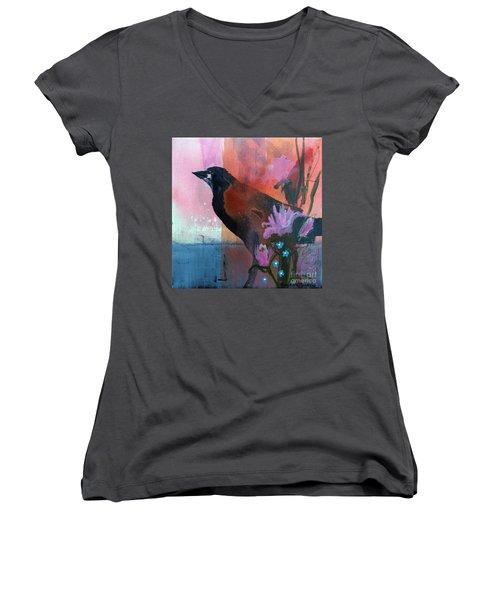 Hello Crow Women's V-Neck T-Shirt