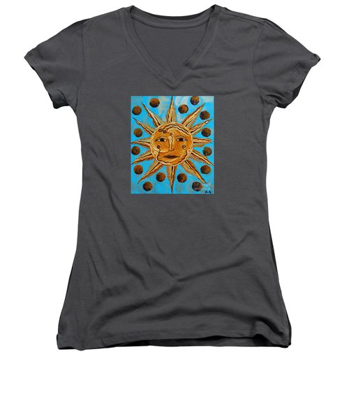 Here Comes The Sun Women's V-Neck (Athletic Fit)