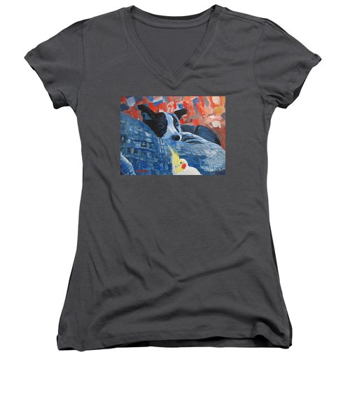 Heres Looking At You Pal Women's V-Neck