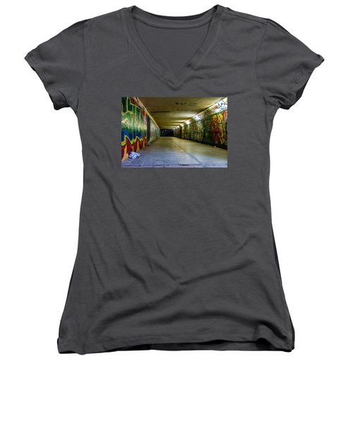 Hidden Art Women's V-Neck (Athletic Fit)