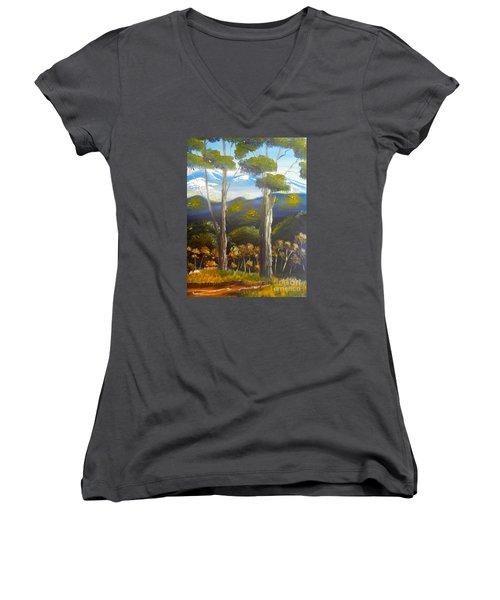 Highlands Gum Trees Women's V-Neck T-Shirt