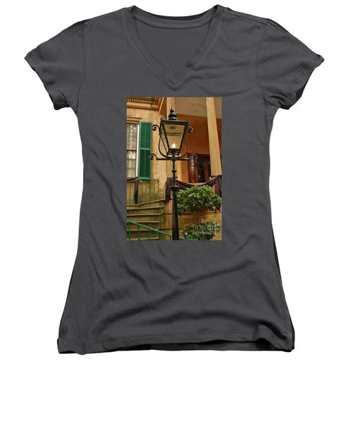 Historical Gas Light Women's V-Neck (Athletic Fit)