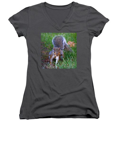 Women's V-Neck T-Shirt (Junior Cut) featuring the photograph Hiya by Joseph Skompski