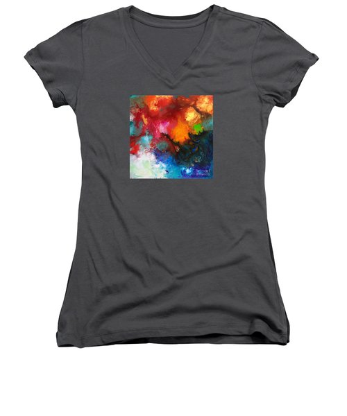 Holding The High Watch Canvas Three Women's V-Neck (Athletic Fit)