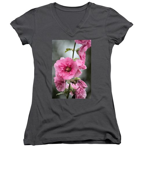 Hollyhock Women's V-Neck T-Shirt