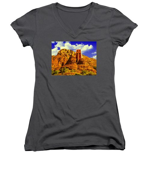 Holy Cross Chapel Coconino National Forest Women's V-Neck