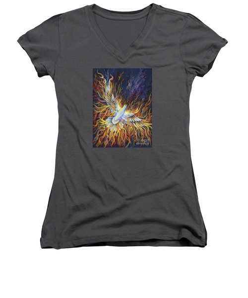 Holy Fire Women's V-Neck (Athletic Fit)