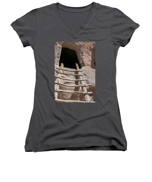 Home In Frijoles Canyon Women's V-Neck T-Shirt