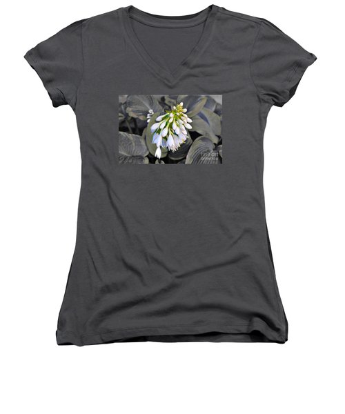 Hosta Ready To Bloom Women's V-Neck T-Shirt