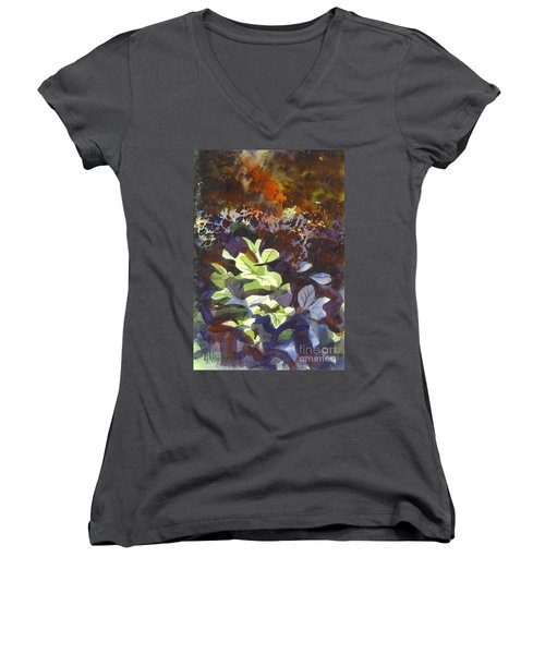 Hostas In The Forest Women's V-Neck