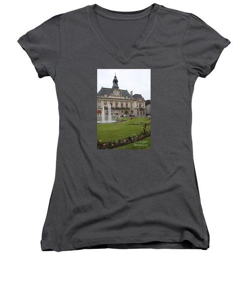 Hotel De Ville - Tours Women's V-Neck (Athletic Fit)