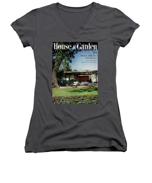 House & Garden Cover Of The Kurt Appert House Women's V-Neck