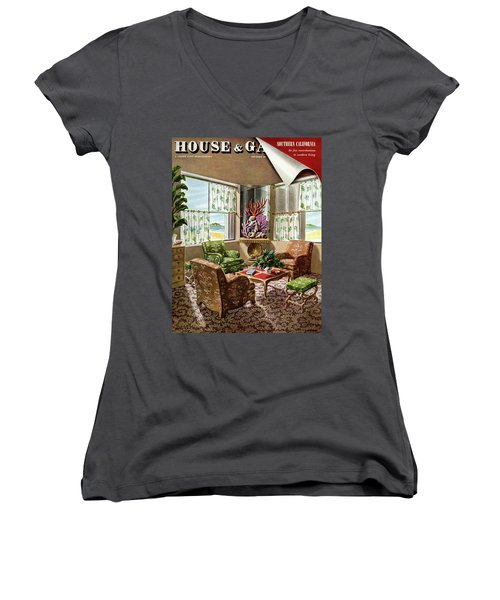 House And Garden Issue About Southern California Women's V-Neck