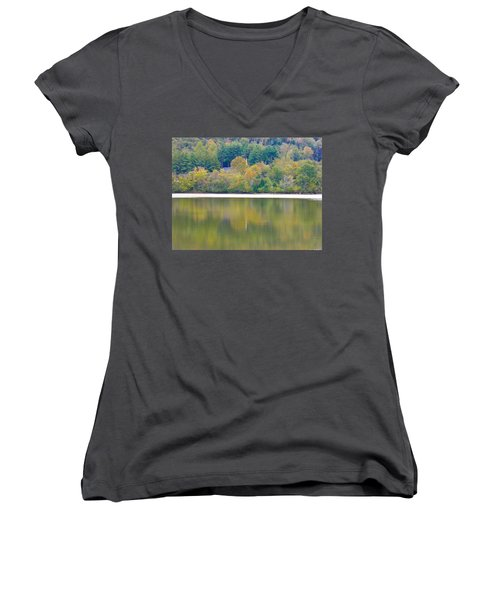 Women's V-Neck T-Shirt (Junior Cut) featuring the photograph How Sweet The Sound by Nick Kirby