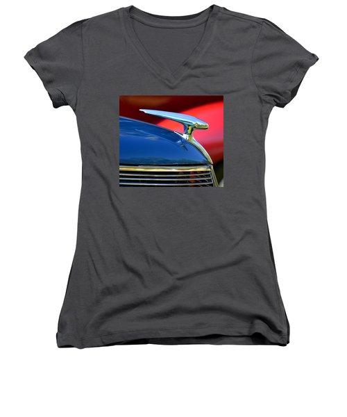 Women's V-Neck T-Shirt (Junior Cut) featuring the photograph Hr-45 by Dean Ferreira