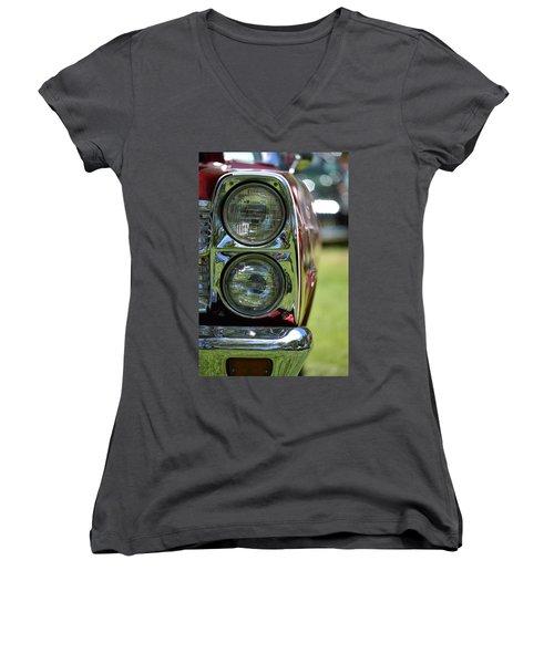 Women's V-Neck T-Shirt (Junior Cut) featuring the photograph Hr-46 by Dean Ferreira