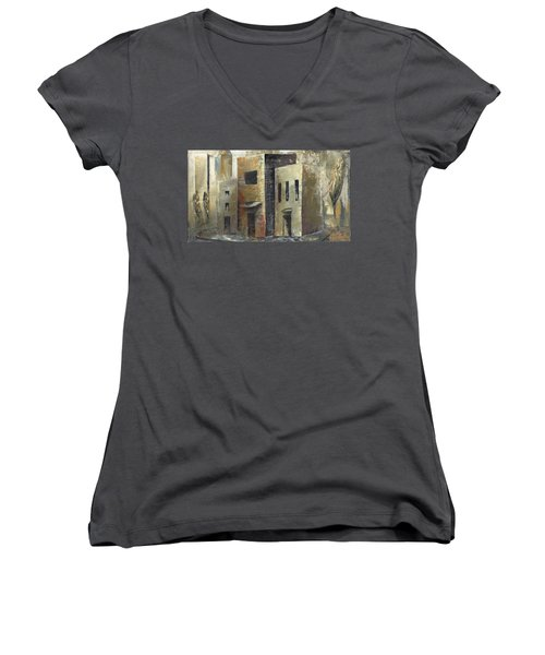 'humbled Today' Women's V-Neck (Athletic Fit)