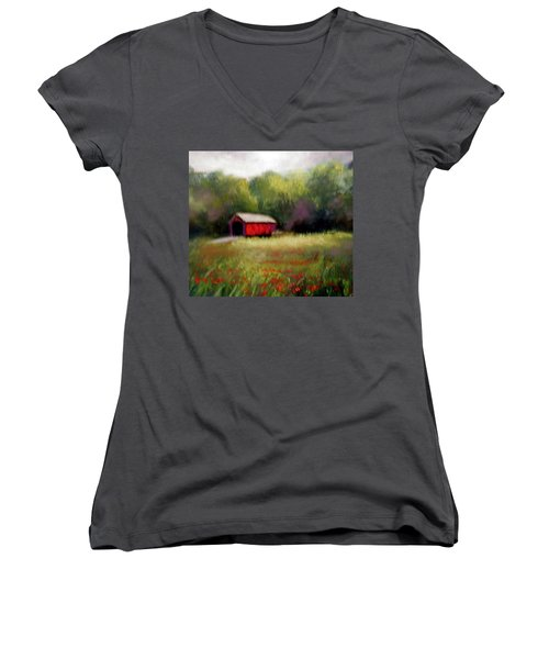 Hune Bridge Women's V-Neck T-Shirt