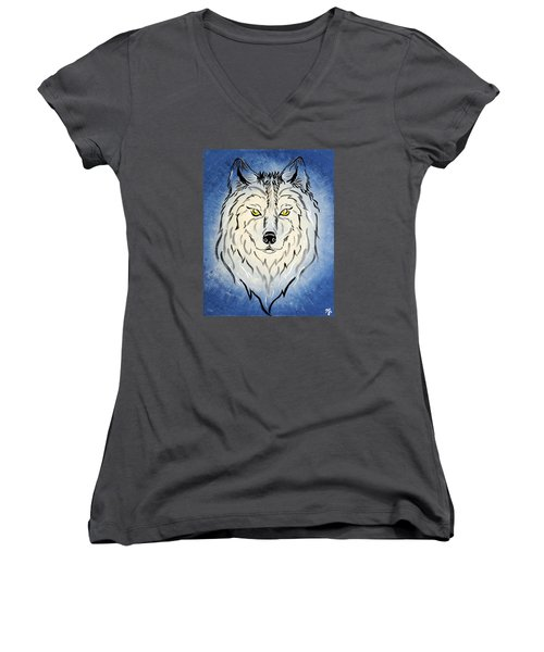 Hungry Like The Wolf Women's V-Neck (Athletic Fit)