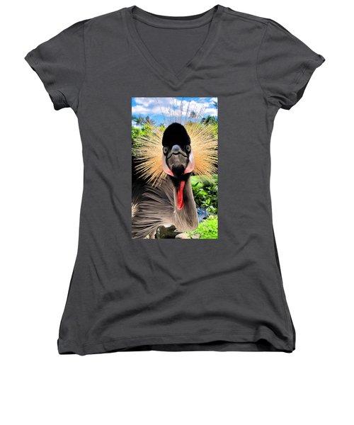 Women's V-Neck T-Shirt (Junior Cut) featuring the photograph Hyatt 18 by Dawn Eshelman