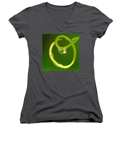 I Am Oz Women's V-Neck T-Shirt (Junior Cut) by Charlotte Schafer