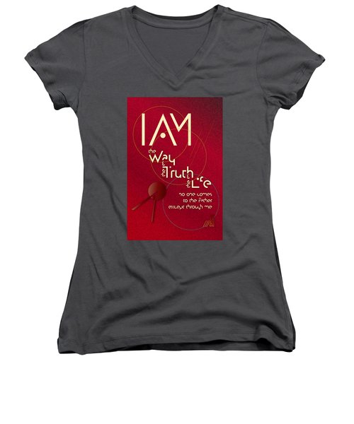 I Am The Way Women's V-Neck (Athletic Fit)